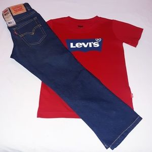 Levi's Boys Youth 2pc Jean's Tee Set